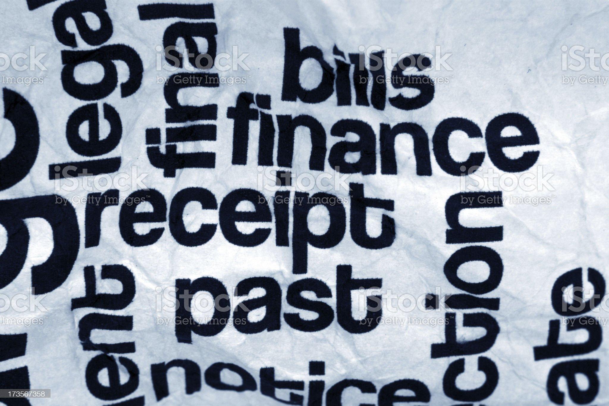 Finance receipt bills royalty-free stock photo