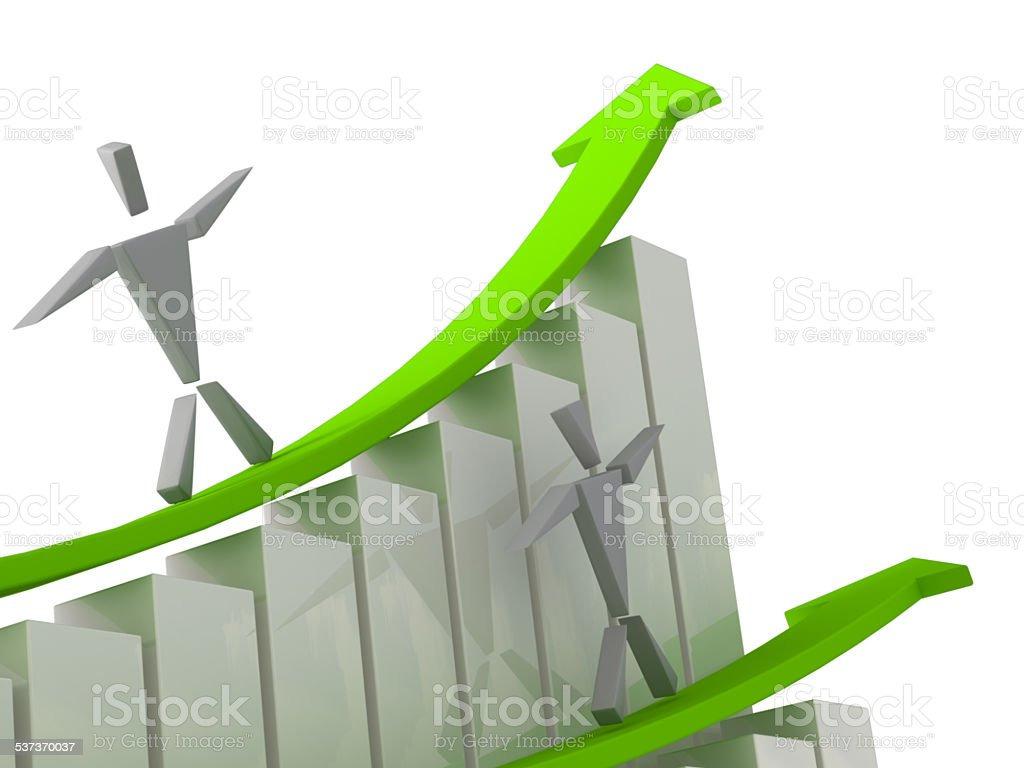 Finance Reflation 3D Concept stock photo
