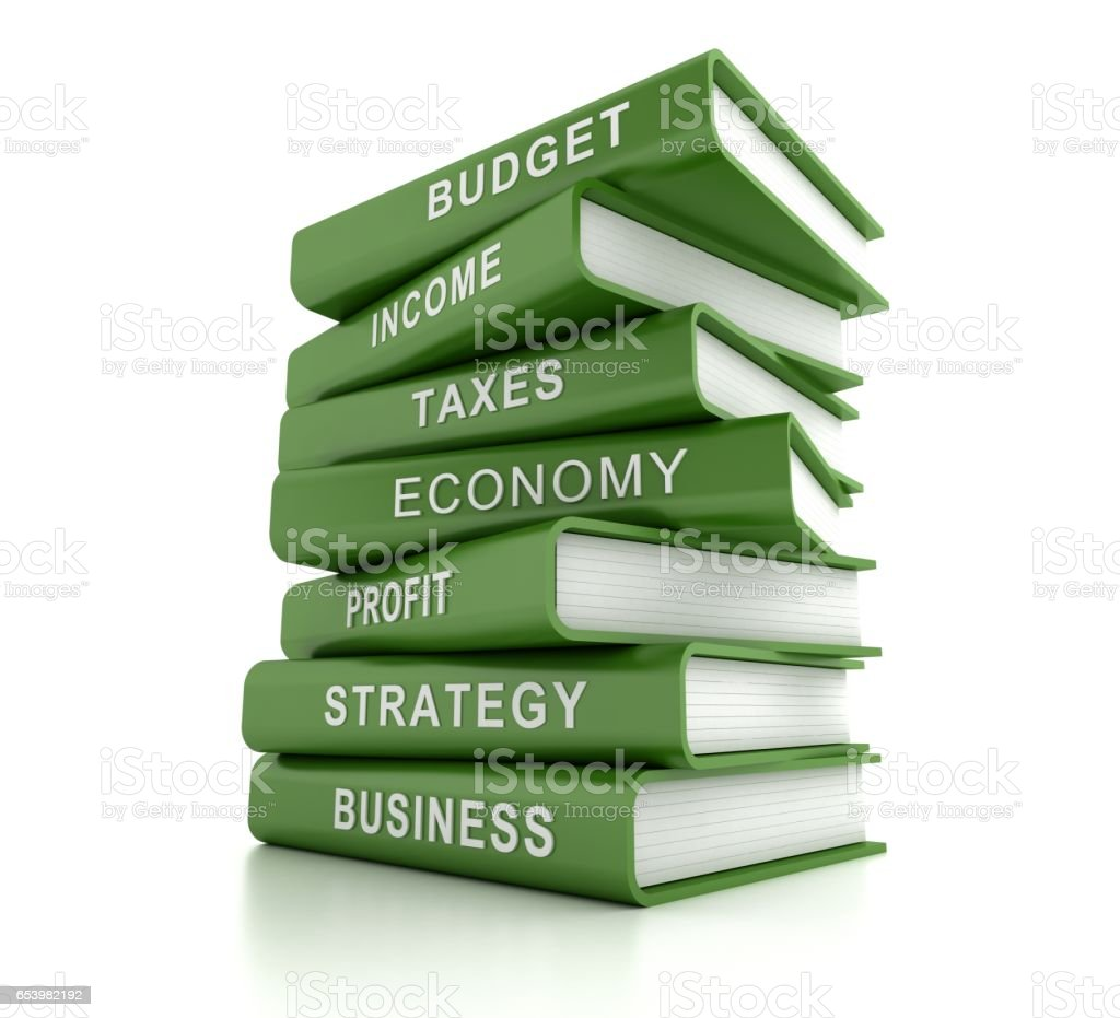 finance related books stock photo