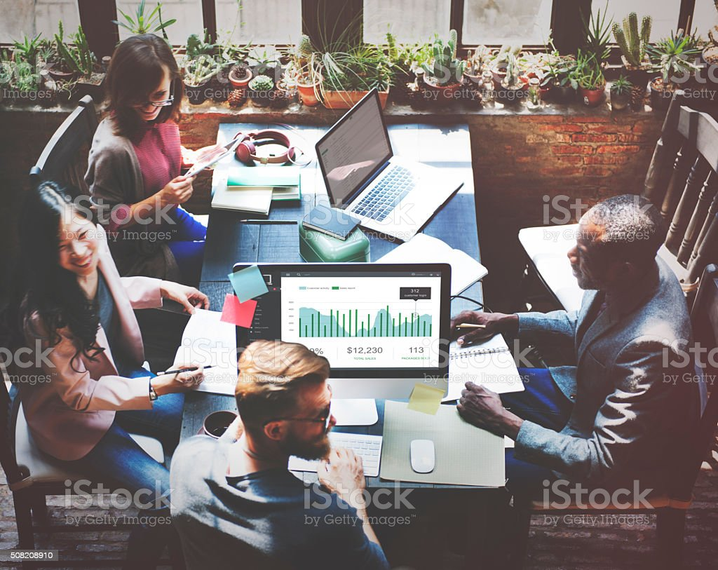 Finance Report Accounting Statistics Business Concept stock photo
