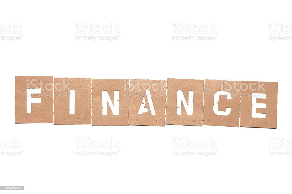 Finance Stencil Word stock photo