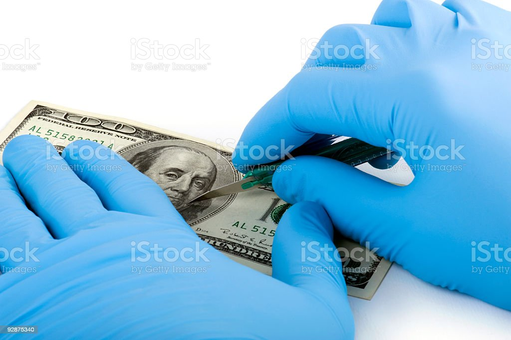 Finance Surgery stock photo