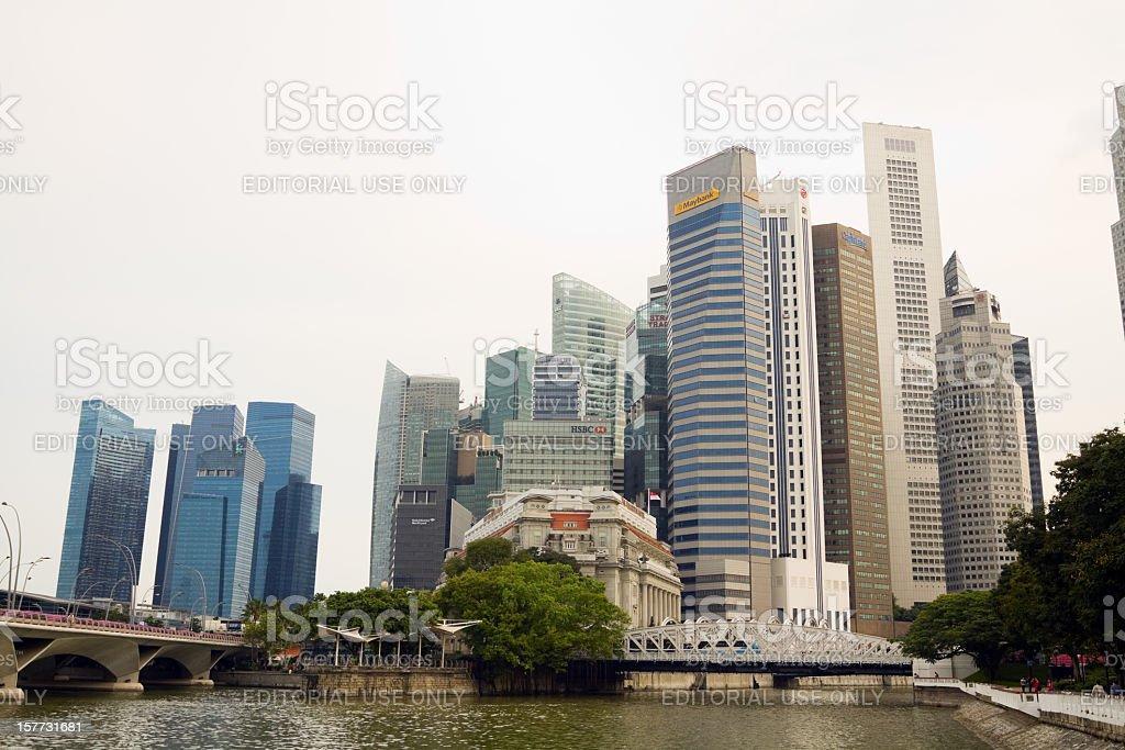 Finance world of Singapore stock photo