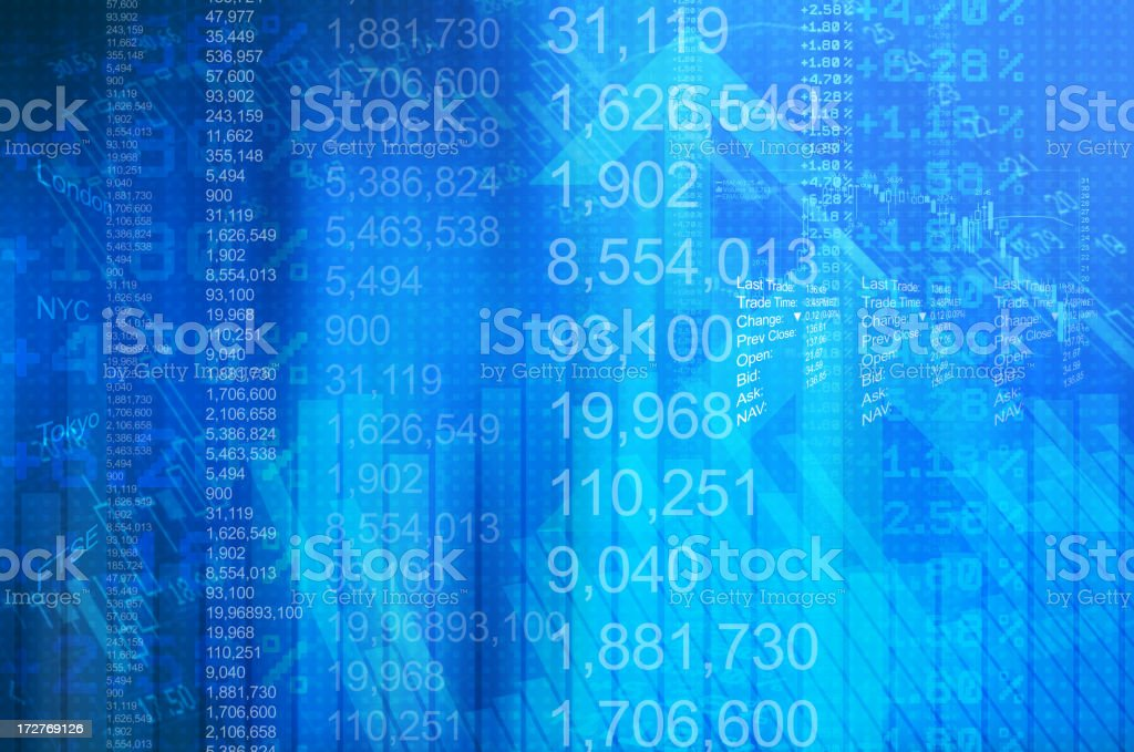 Financial Abstract stock photo
