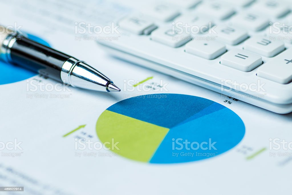financial accounting analysis concept stock photo
