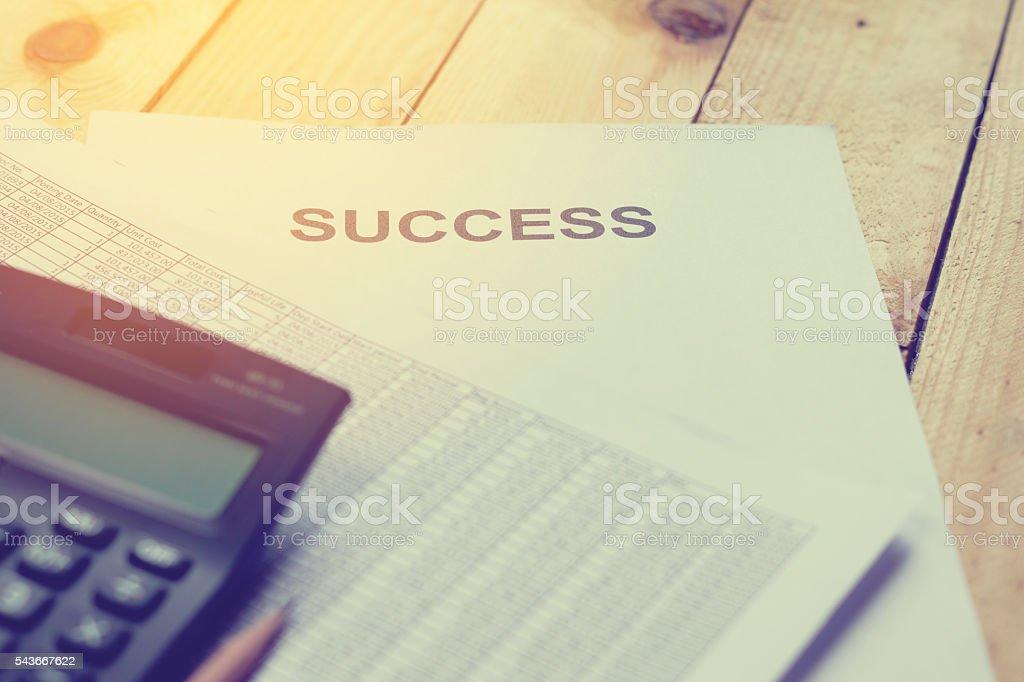 Análise financeira de contabilidade foto royalty-free