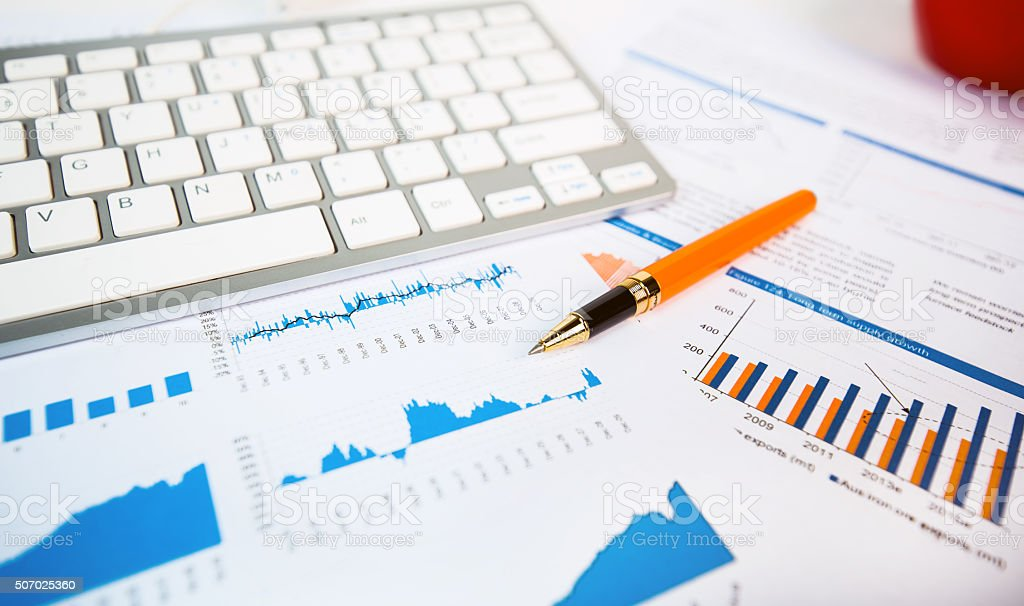 financial accounting concept stock photo