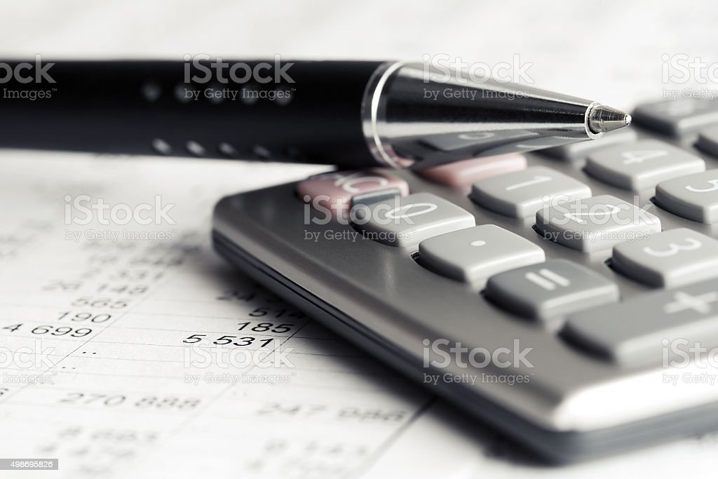 Financial accounting stock photo