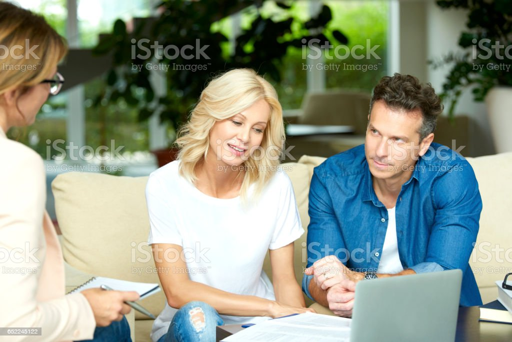 Financial advisor and her client stock photo