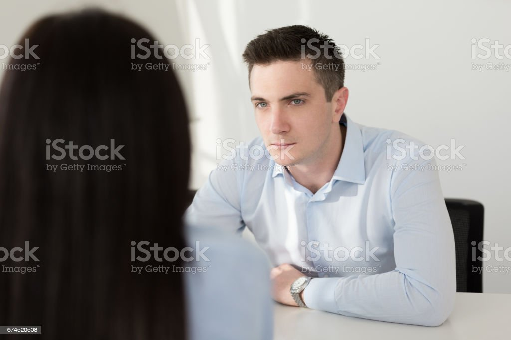 Financial advisor meets client stock photo