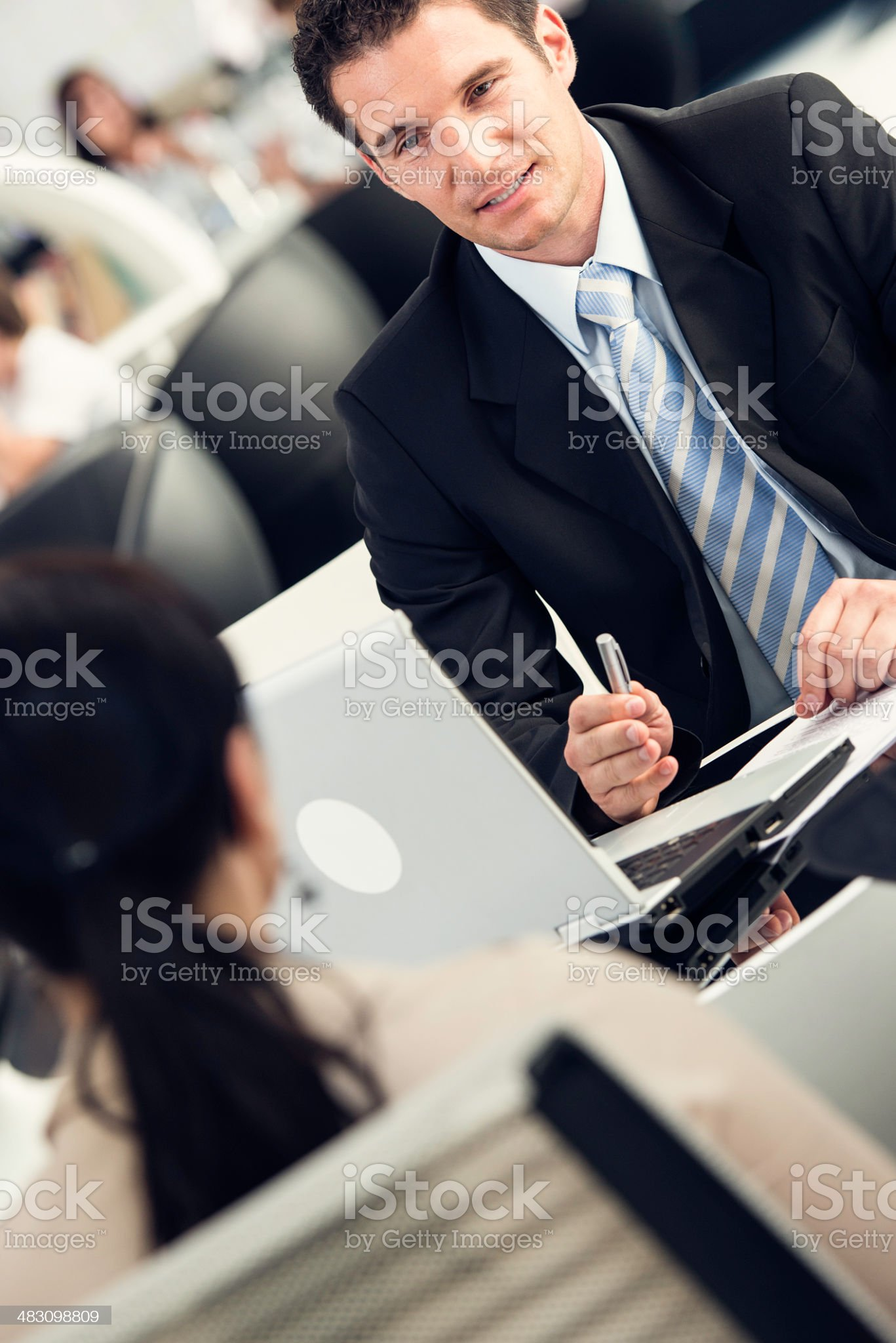Financial Advisor Talking With His Client royalty-free stock photo