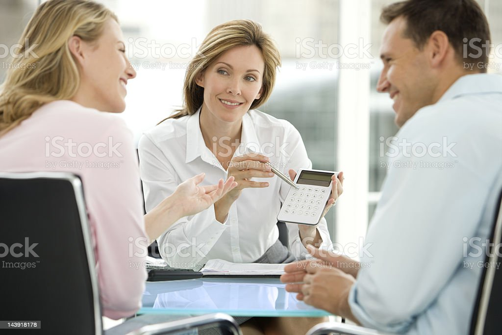 Financial Agreement stock photo