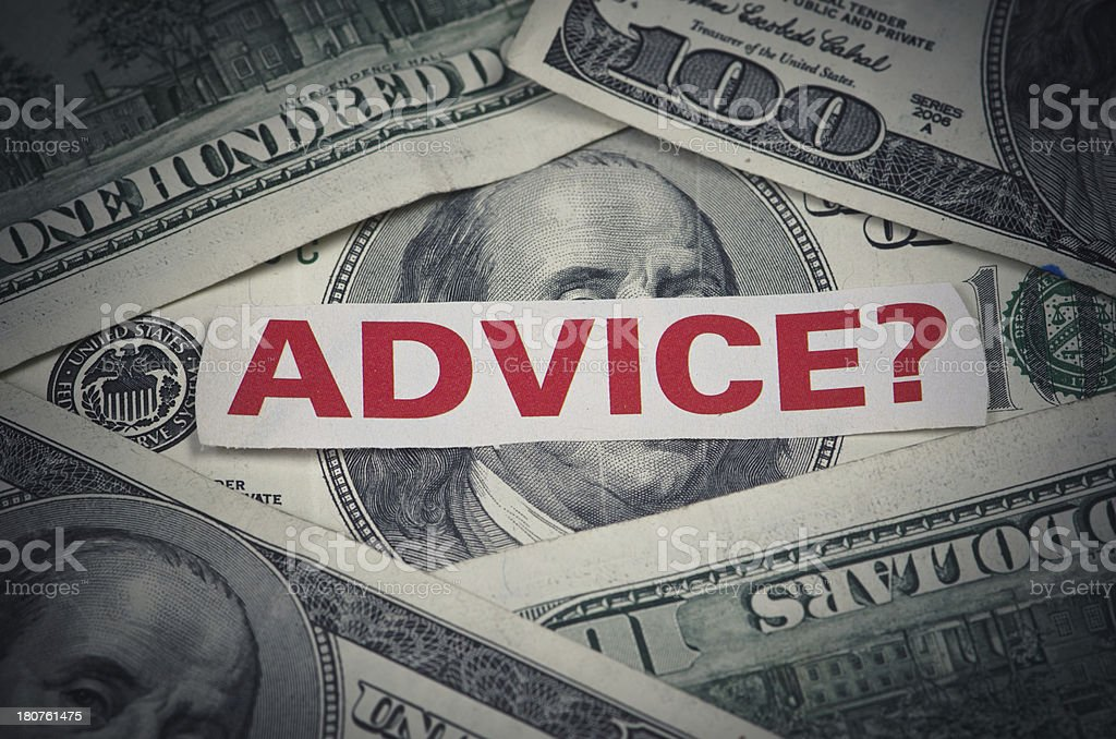 Financial analysis and advice royalty-free stock photo