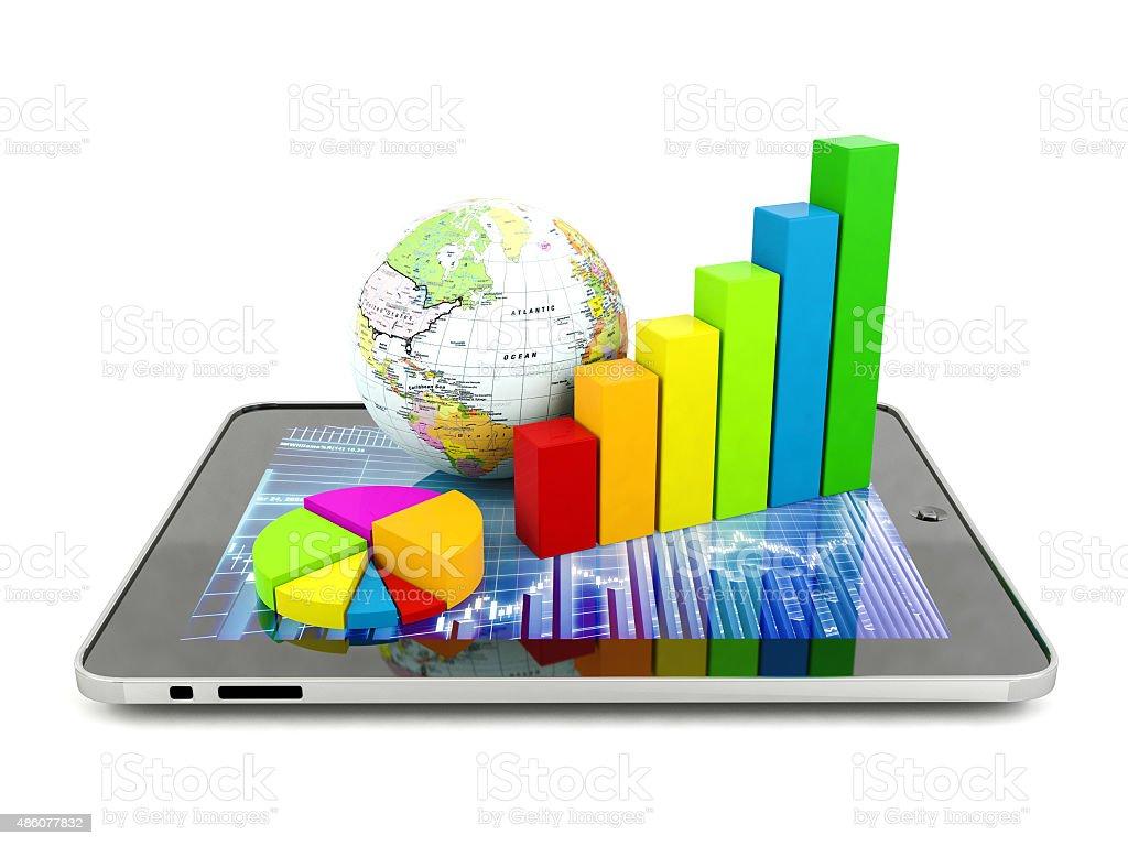 Financial analysis concept stock photo