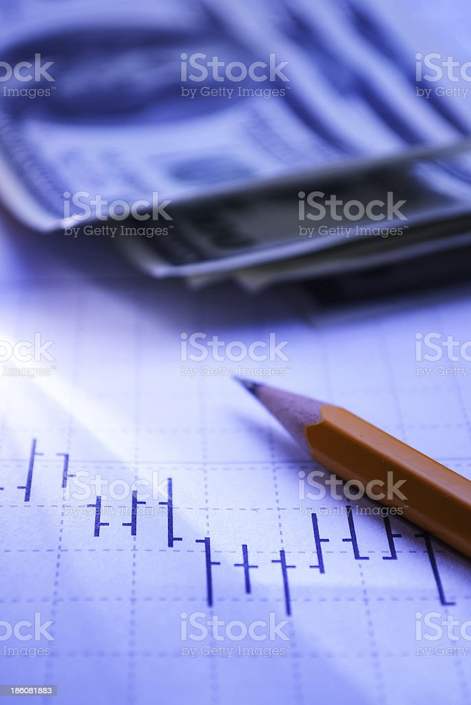 Financial analysis of costs and returns royalty-free stock photo