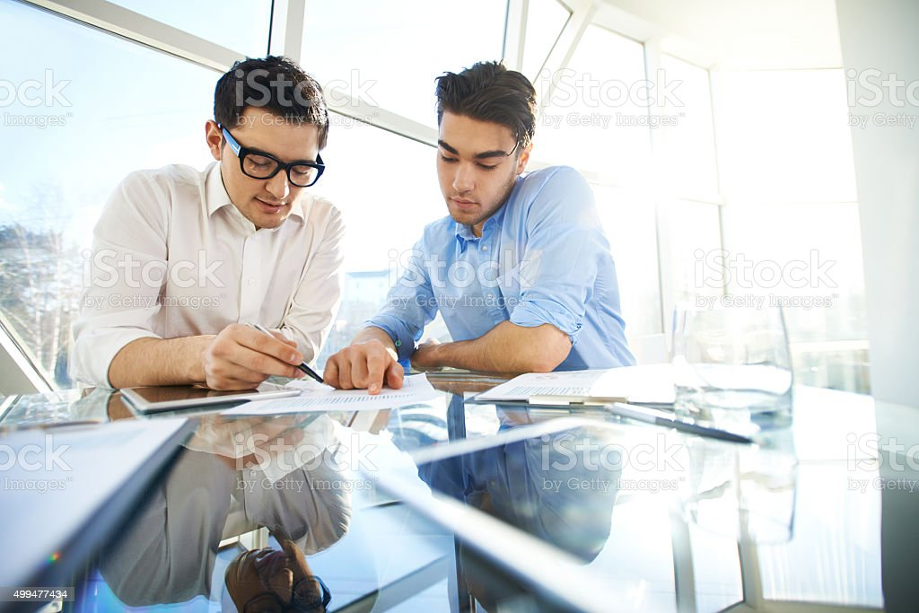 Financial analysts stock photo