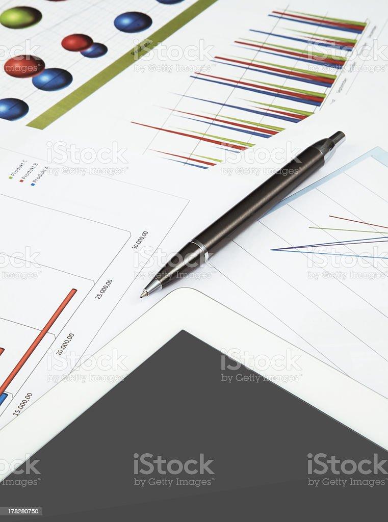 Financial analyze royalty-free stock photo