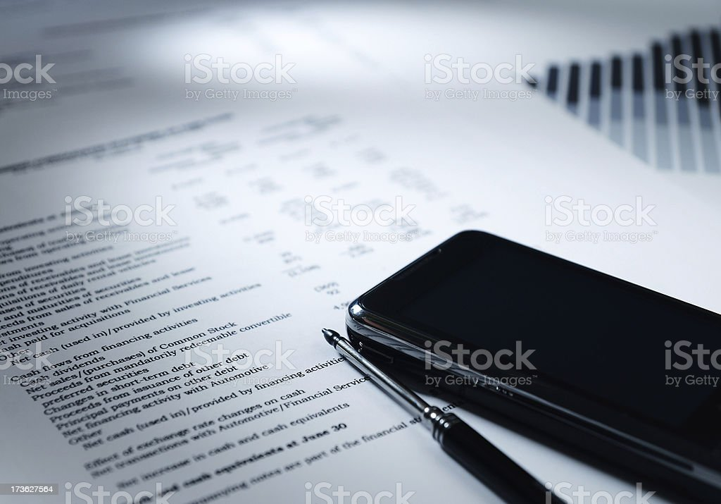 Financial Analyzing (Success Concept) royalty-free stock photo