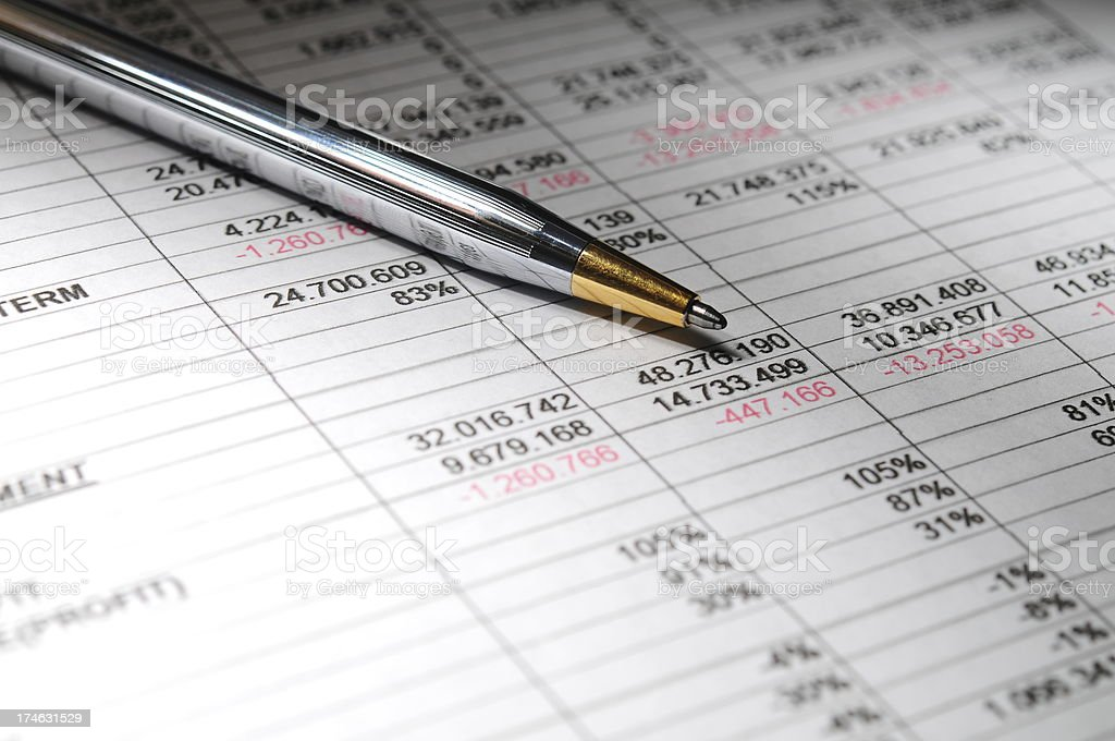 Financial Analyzing (Success Concept) stock photo