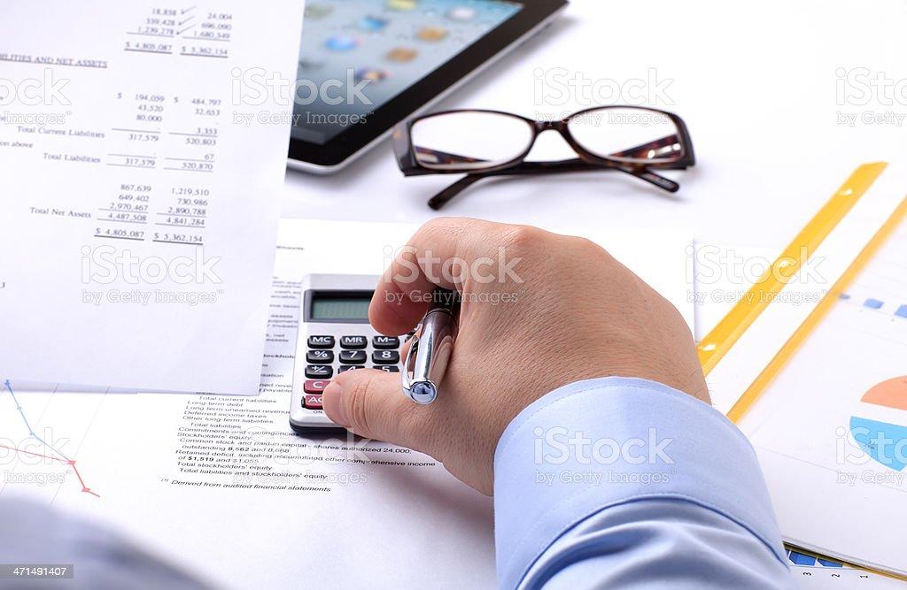 Financial Analyzing royalty-free stock photo