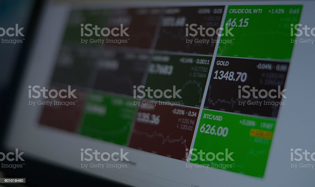 Financial background with market values stock photo