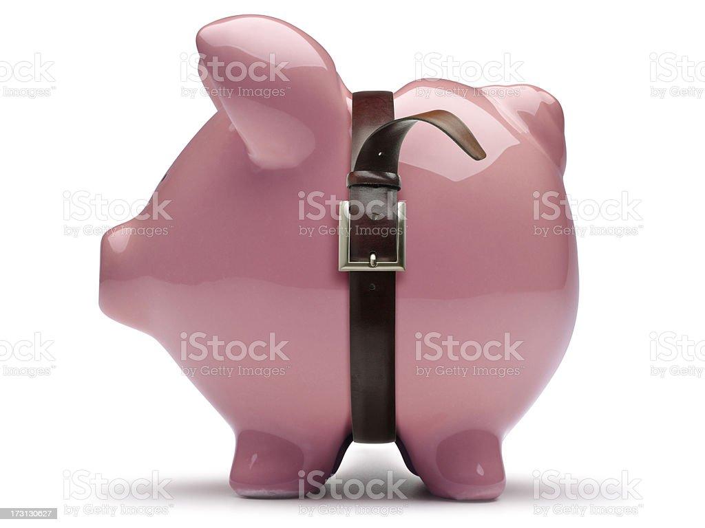 Financial Belt Tightening royalty-free stock photo