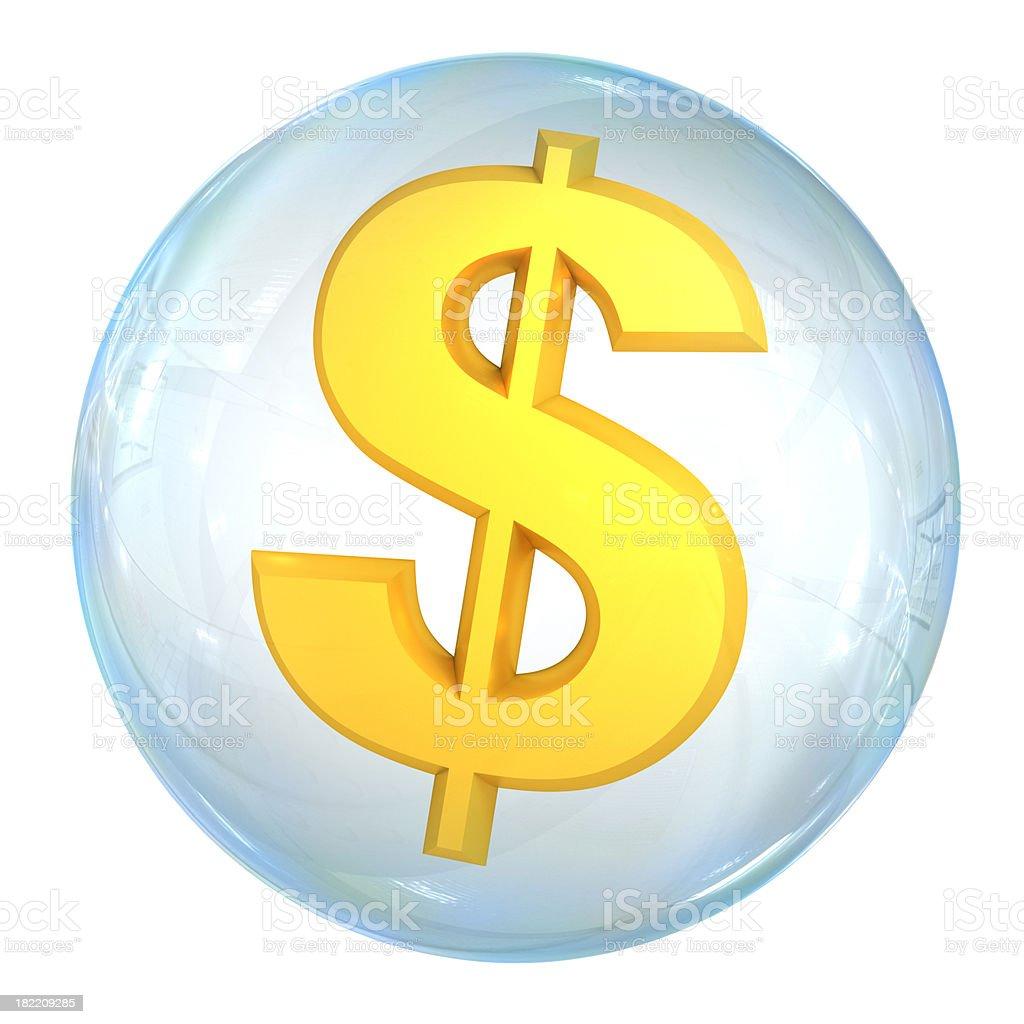 Financial bubble stock photo