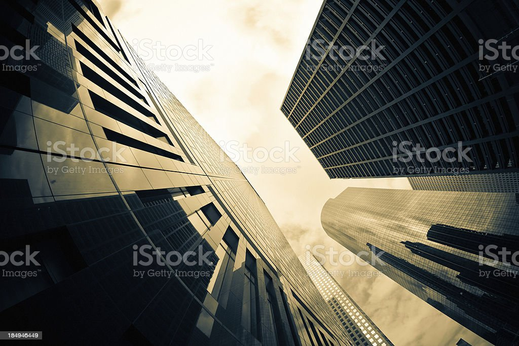 Financial Buildings Skyscraper Downtown District royalty-free stock photo
