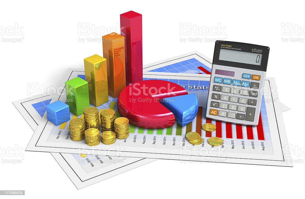 Financial business, analytics, banking and accounting concept royalty-free stock photo