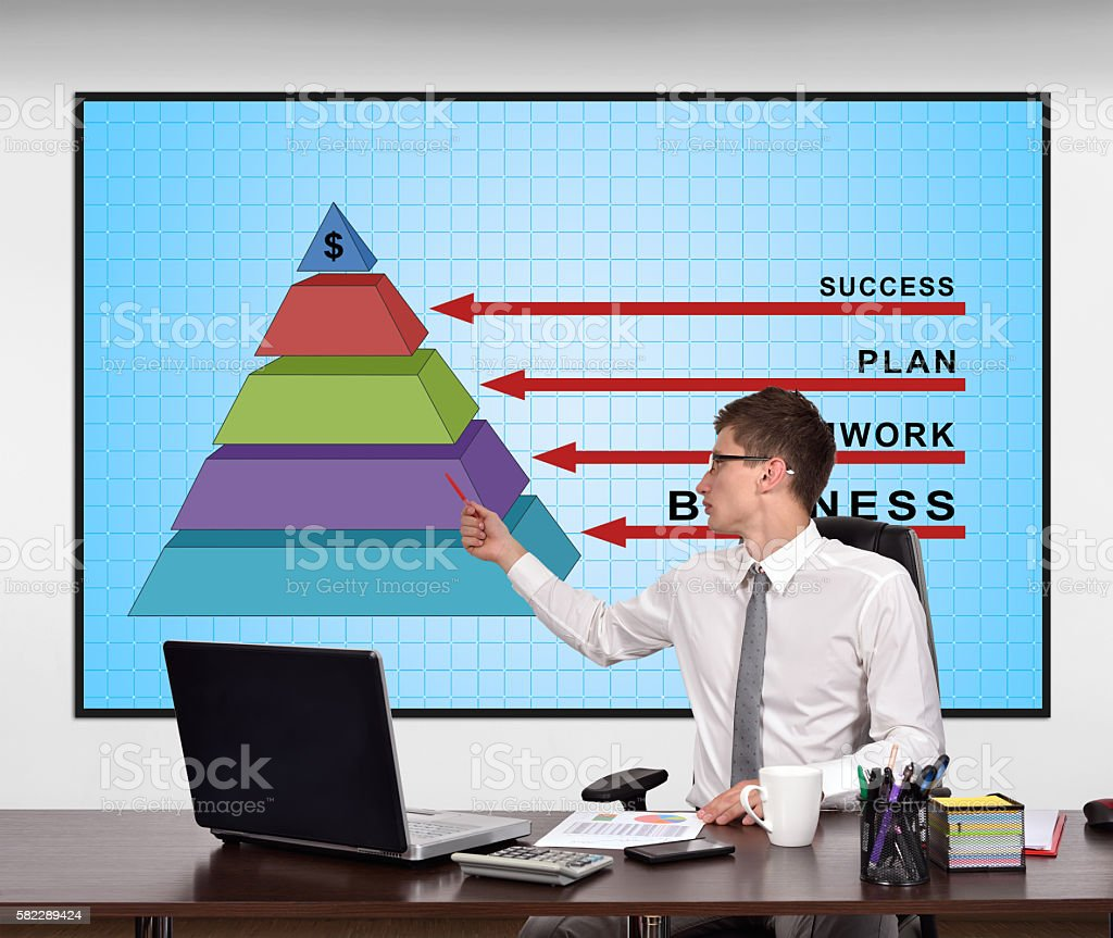 Financial Business pyramid stock photo