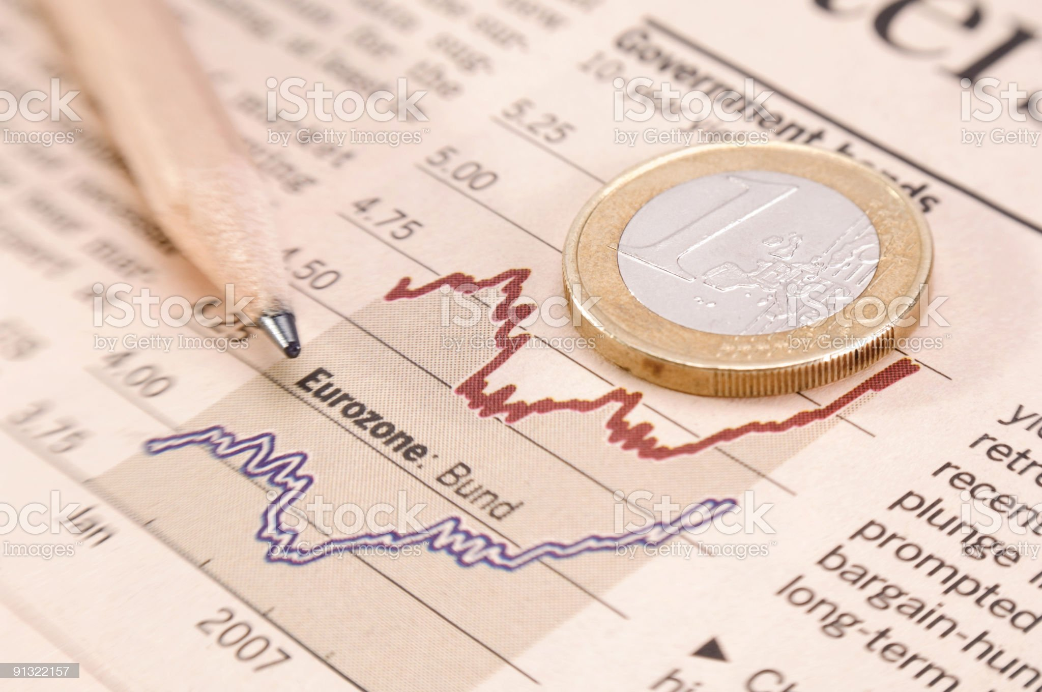 Financial Business Report royalty-free stock photo