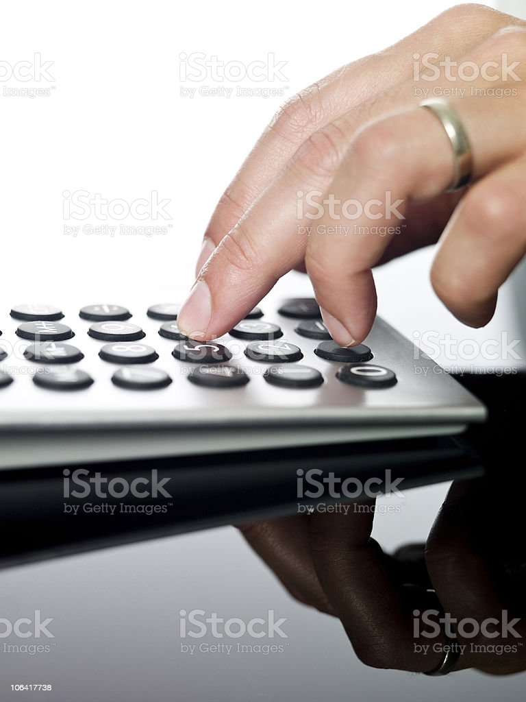 Financial calculations. royalty-free stock photo