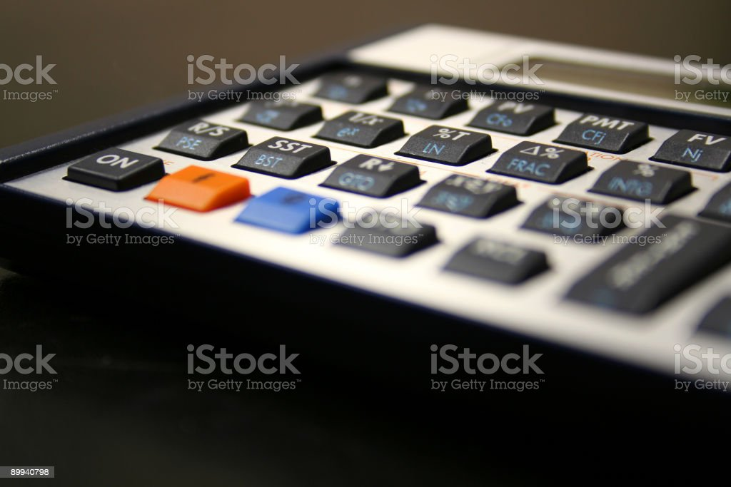 Financial Calculator royalty-free stock photo