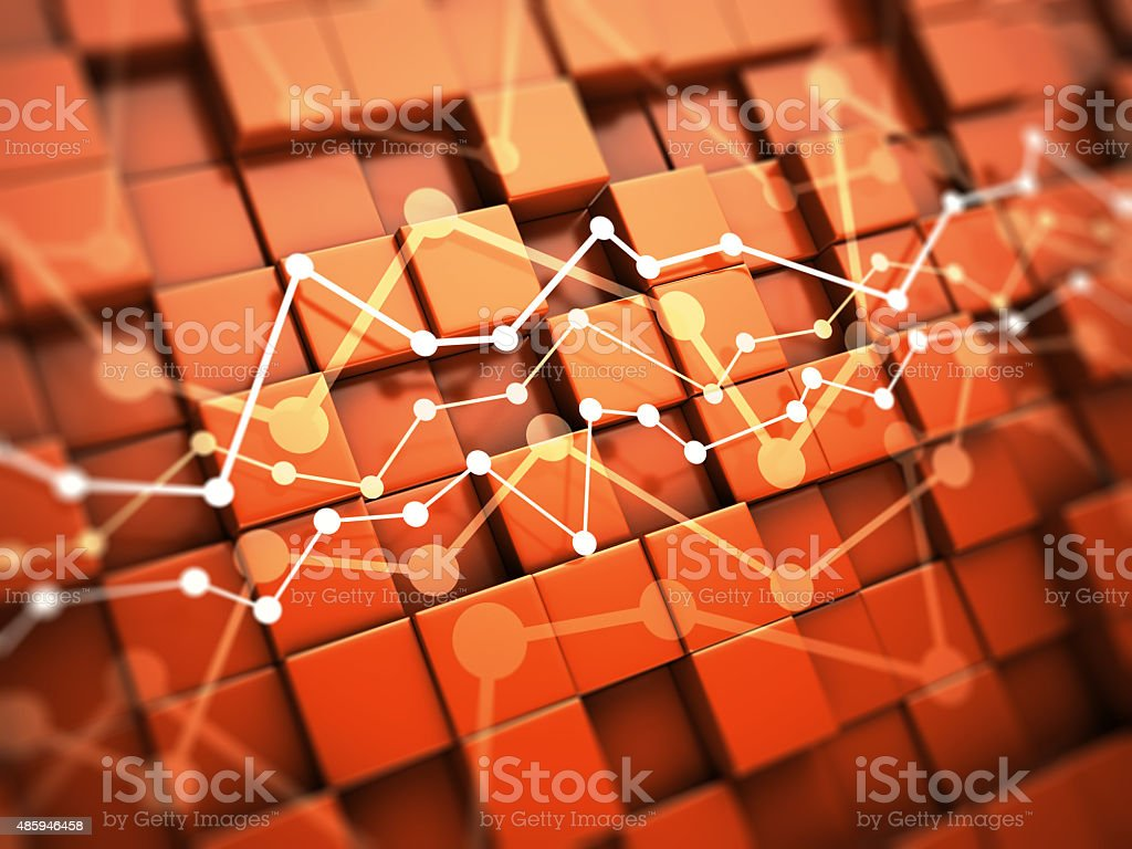 Financial chart concept stock photo