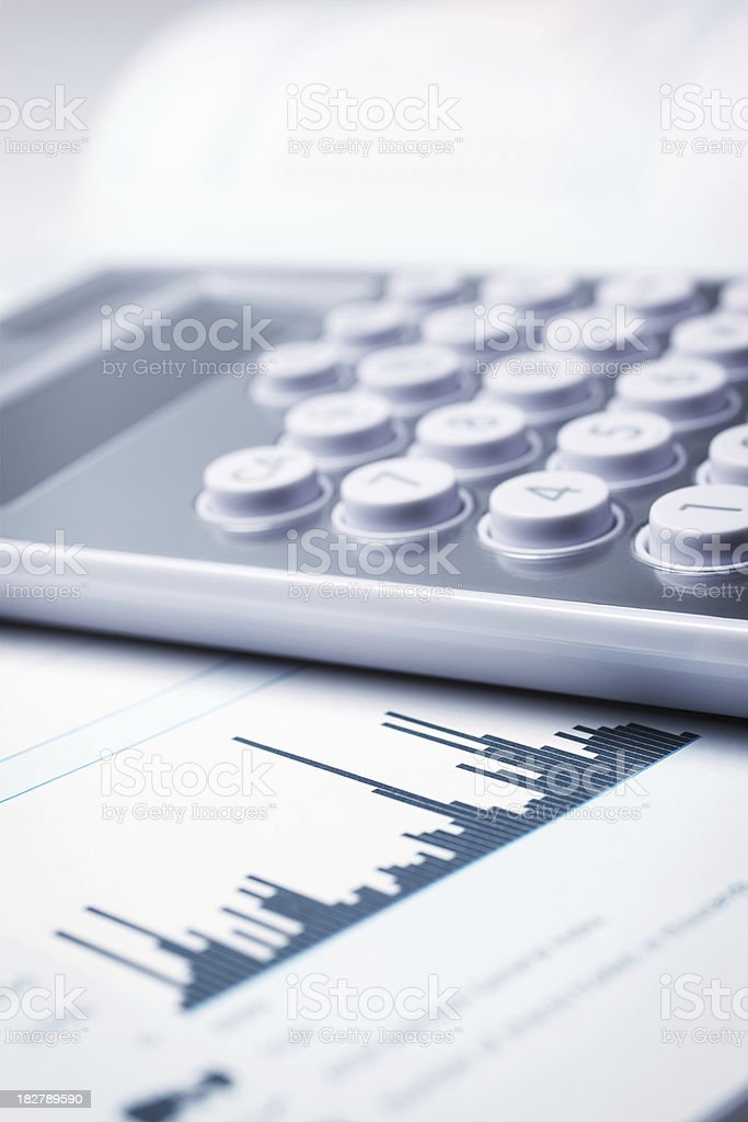 Financial Chart royalty-free stock photo