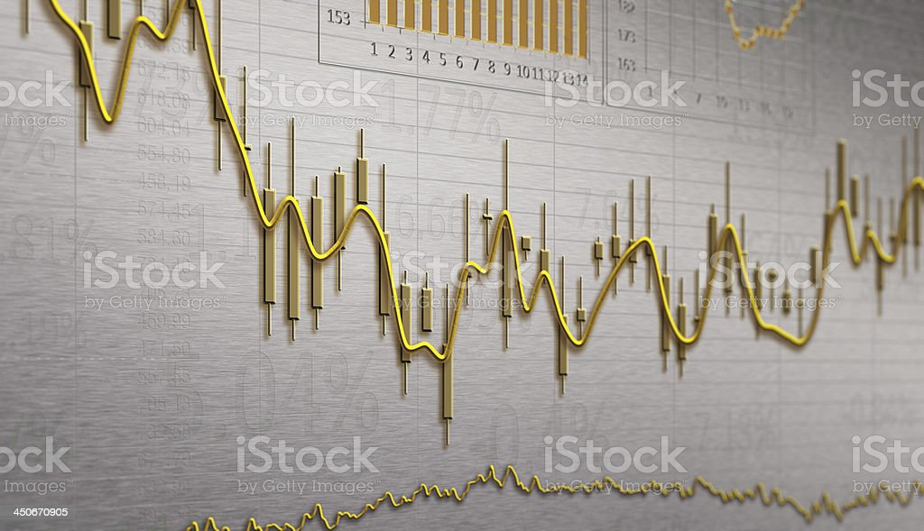 Financial Chart stock photo