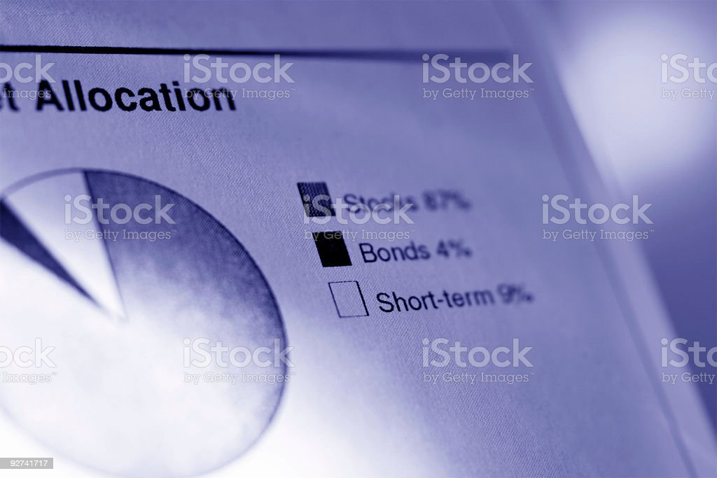 Financial Chart - Toned stock photo