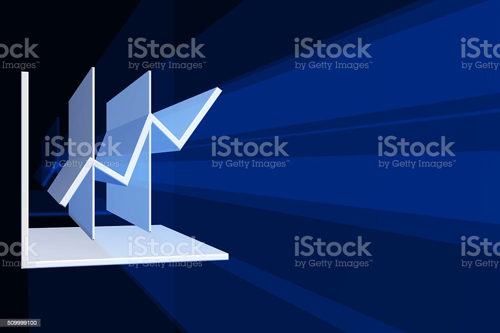 Financial Charts 3D stock photo