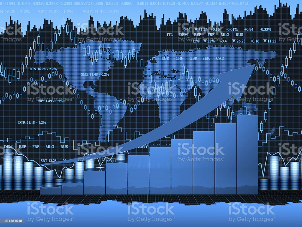 Financial charts abstract business graph royalty-free stock photo