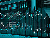 Financial charts abstract business graph