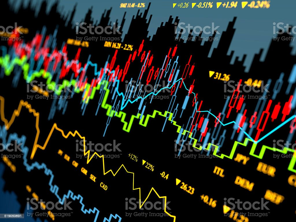 Financial charts abstract business graph vector art illustration