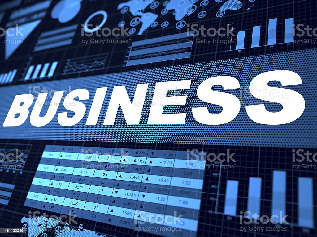 Financial charts abstract business news royalty-free stock photo