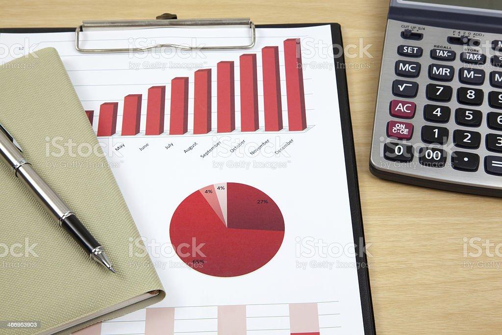 financial charts and graphs royalty-free stock photo