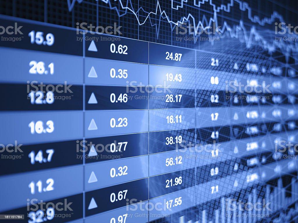 Financial charts royalty-free stock photo