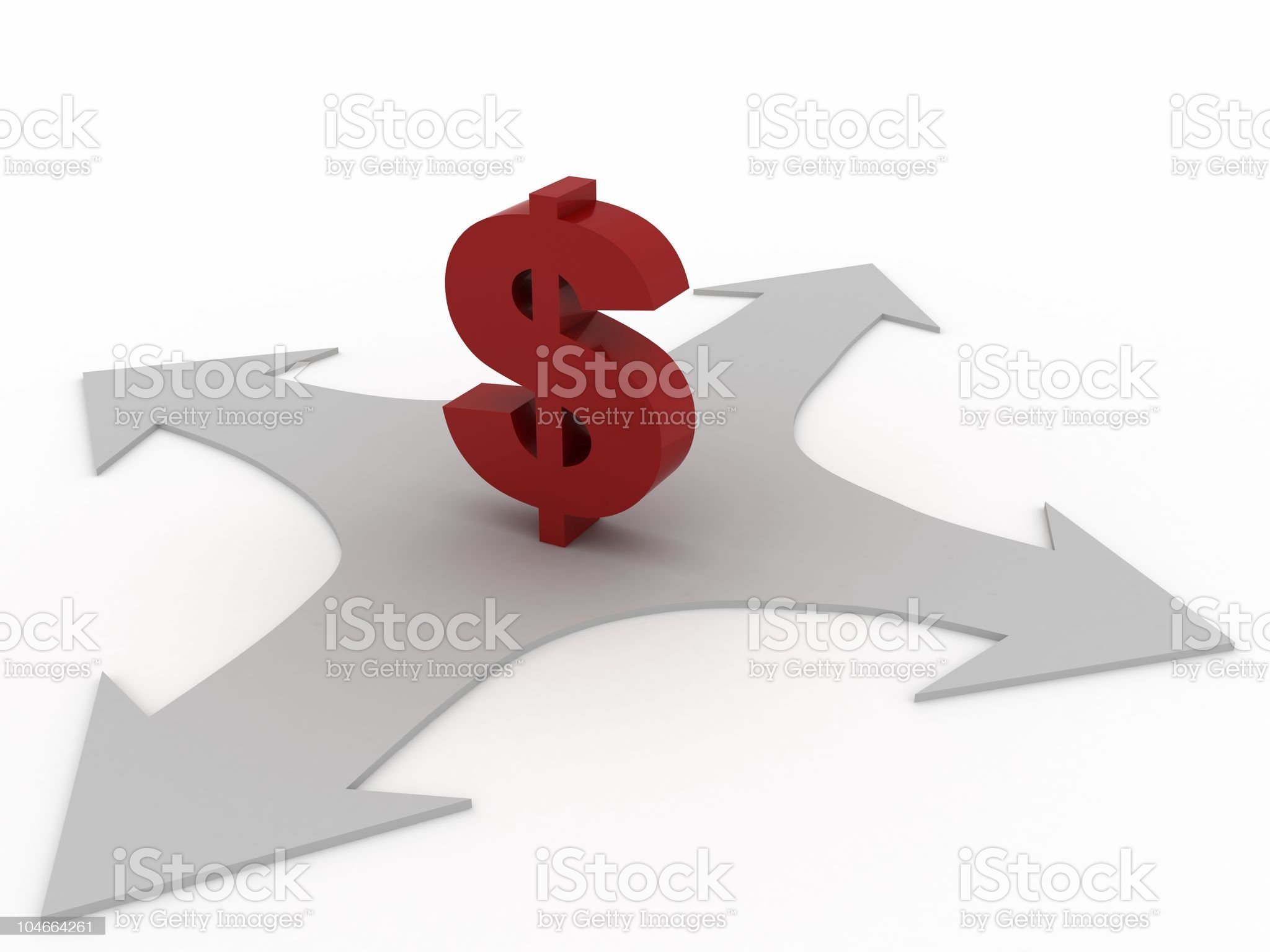 Financial Choices royalty-free stock photo