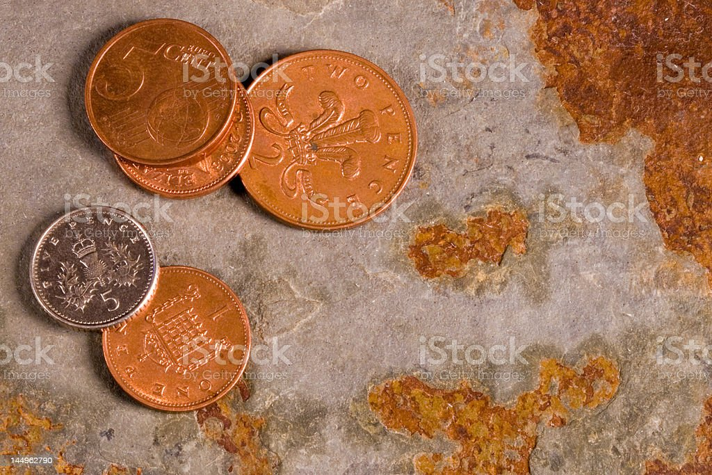 Financial Coins royalty-free stock photo