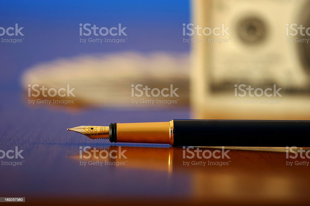 Financial composition royalty-free stock photo