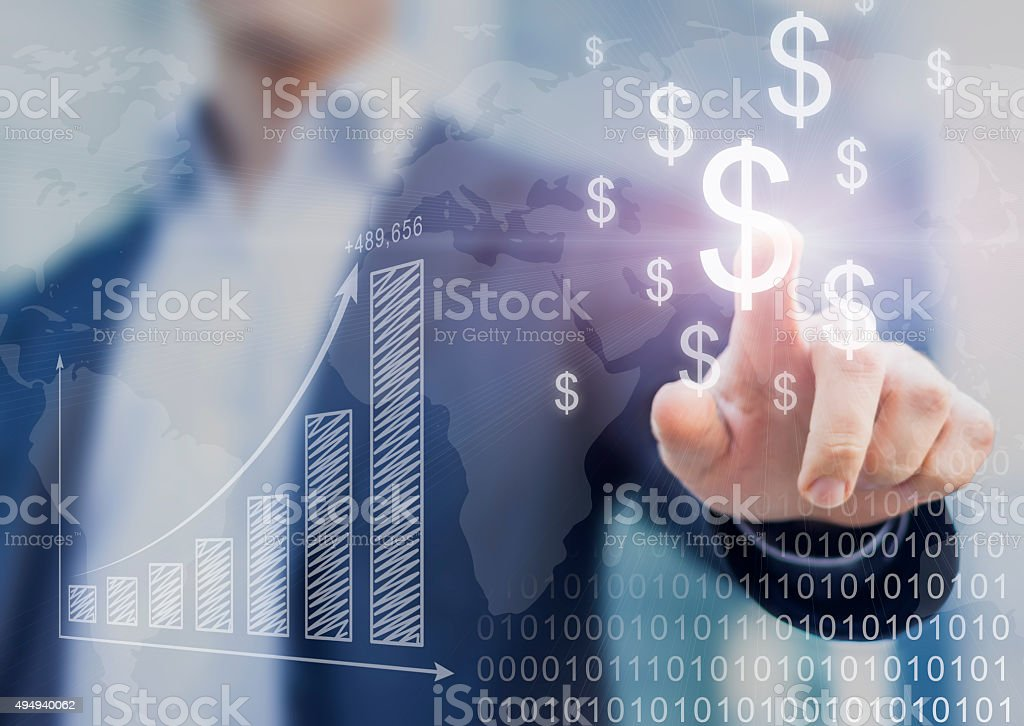 financial concept, business and money stock photo