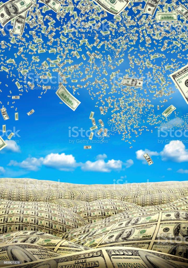 Financial concept of money stock photo