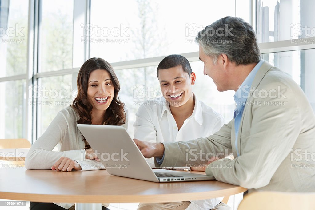 Financial Consultant Advising Couple royalty-free stock photo